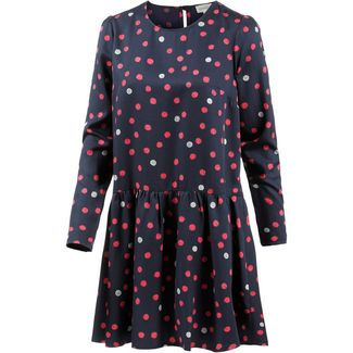 ARMEDANGELS Enda Bubble Dots Langarmkleid Damen navy-ribbon-red