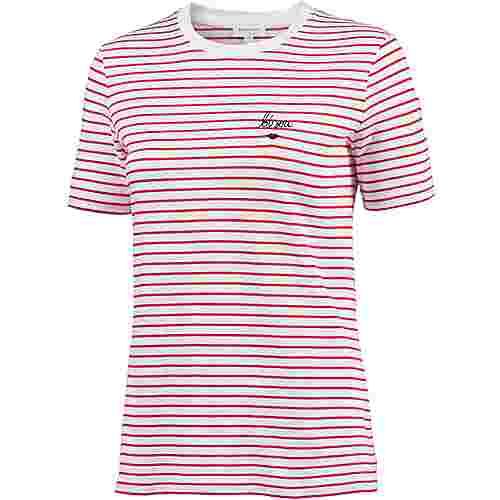 ARMEDANGELS Lida Bisou On Stripes T-Shirt Damen ribbon red-white