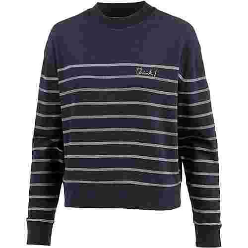 ARMEDANGELS Philomena Think On Stripes Sweatshirt Damen navy