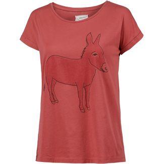 ARMEDANGELS Liv Donkey T-Shirt Damen mineral red