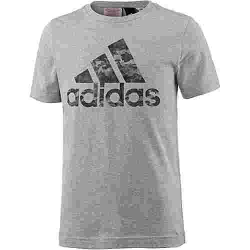 adidas T-Shirt Kinder medium-grey-heather