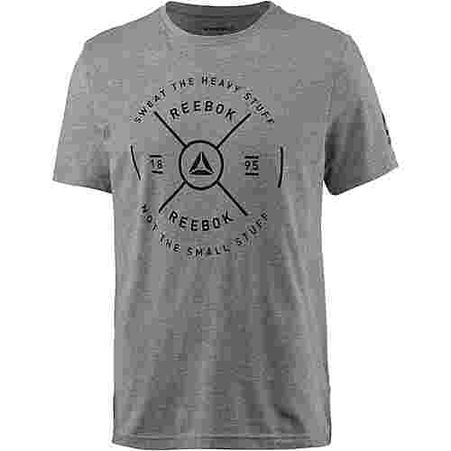 Reebok Graphic T-Shirt Herren medium-grey-heather