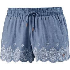 Superdry Shorts Damen Blue Chambray