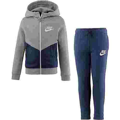 Nike Trainingsanzug Kinder dark grey heather-blue