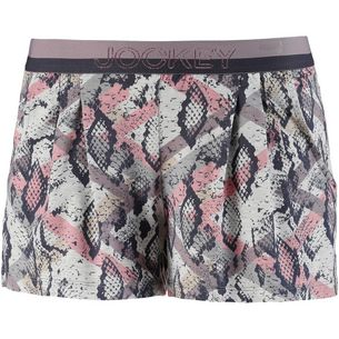 Jockey Shorts Damen rosa-grau