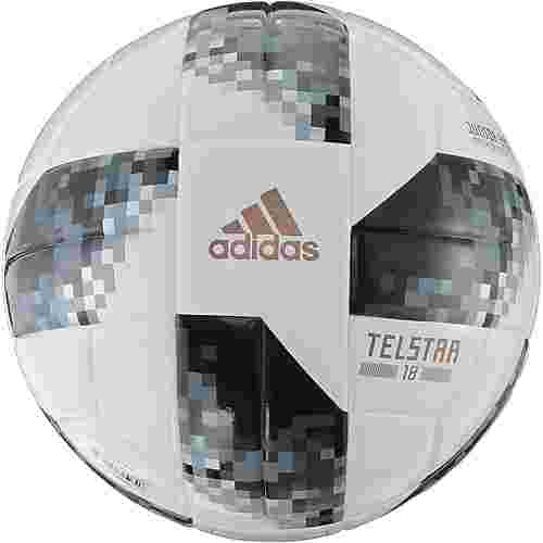 adidas World Cup J290 Telstar 18 Fußball white/black/silver met.