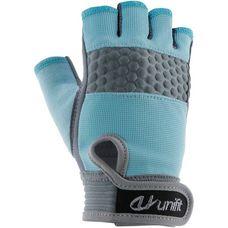 unifit Fitnesshandschuhe Damen hellblau/grau