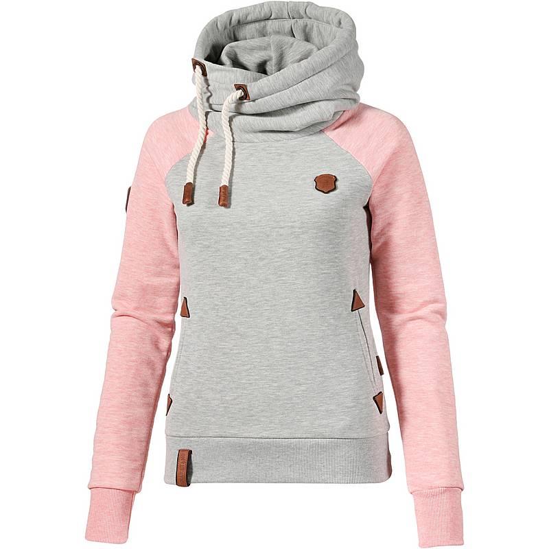 Naketano SO EIN OTTO Hoodie Damen grey-sugar-pink-melange im Online ... f401fd9cf5