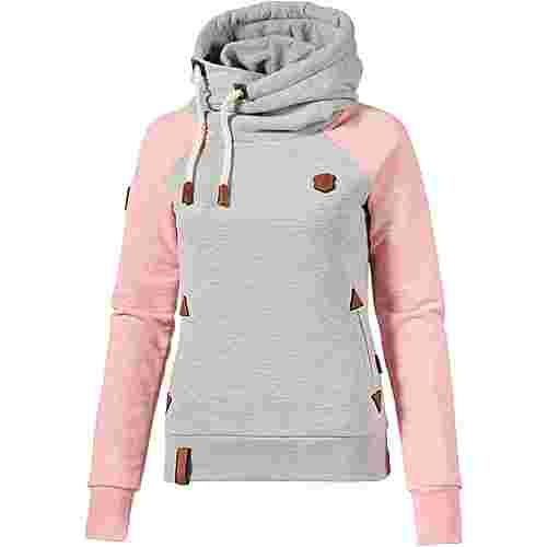 Naketano SO EIN OTTO Hoodie Damen grey-sugar-pink-melange