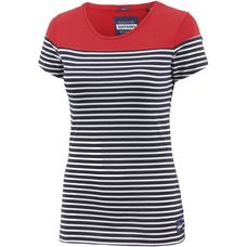 Superdry T-Shirt Damen Flare Red/Marina Navy Stripe