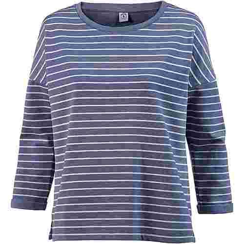 Mazine Sweatshirt Damen indigo mel-white stripes