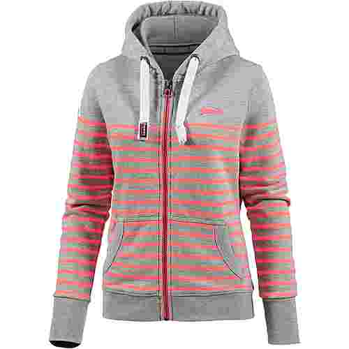 Superdry Sweatjacke Damen grey marl-miami coral