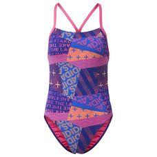 adidas Allover Print Badeanzug Tankini Damen Shock Pink/Hi-Res Blue