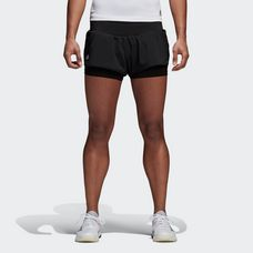adidas Advantage Tennisshorts Damen Black/Clear Onyx