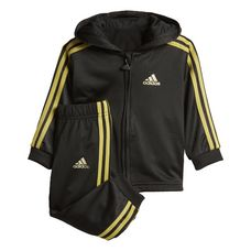 adidas Shiny Jogginganzug Trainingsanzug Kinder Black/Gold Metallic