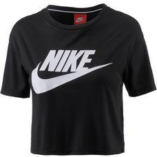 Nike Essential Croptop Damen black-white