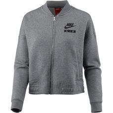 Nike W Nsw Rally Jkt Varsity Air Sweatjacke Damen carbonheather-coolgrey-black