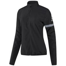 Reebok Running Essentials Wind Jacket Laufjacke Damen Schwarz