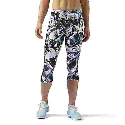 Reebok Workout Ready Capri Tights Damen Multicolor/Solid Teal