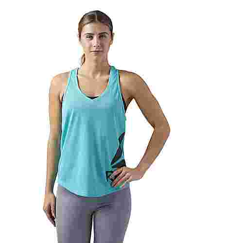 Reebok Workout Ready Mesh Tank Funktionsshirt Damen Turquoise/Solid Teal