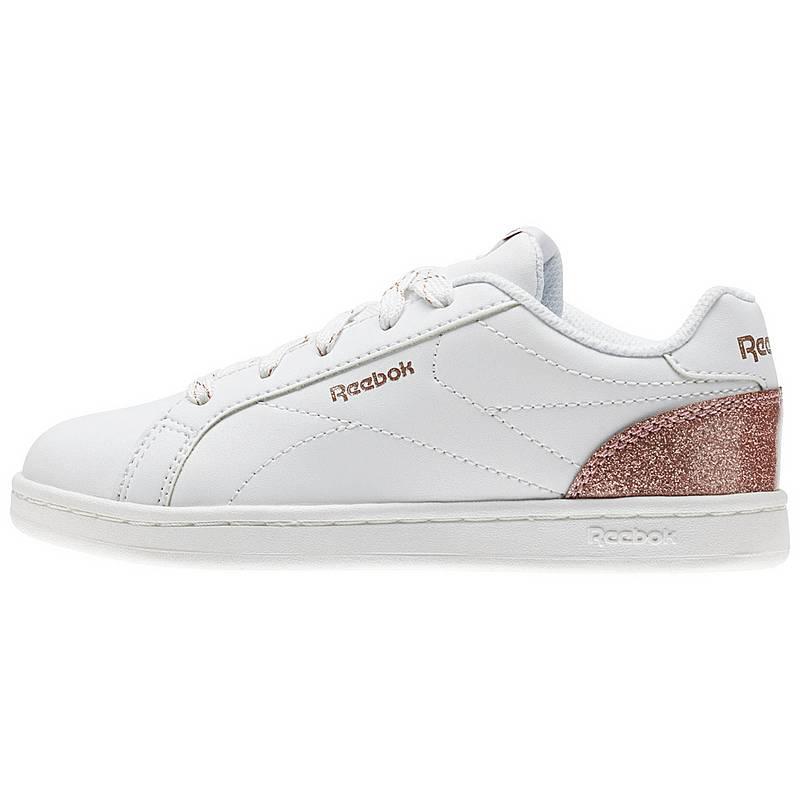 best website f310b fe93a ReebokRoyal Complete CLN SneakerKinder White Rose Gold Sparkle