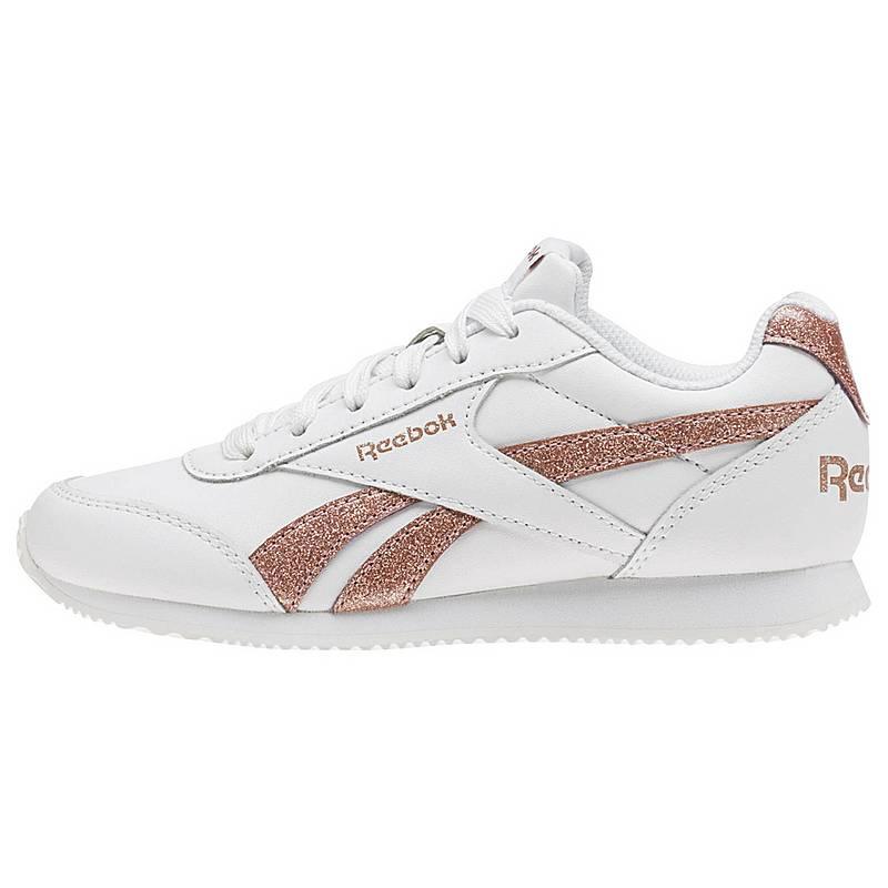 ReebokRoyal Classic Jogger 2.0  SneakerKinder  White/Rose Gold Sparkle
