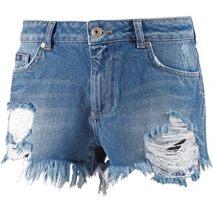 Superdry Jeansshorts Damen Tide Blue
