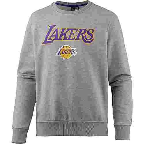 New Era Los Angeles Lakers Sweatshirt Herren light grey heather