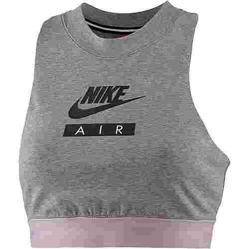 Nike NSW Air Croptop Damen carbonheather-elementalrose-black