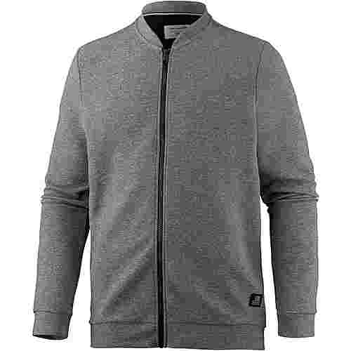 TOM TAILOR Sweatjacke Herren heather grey melange