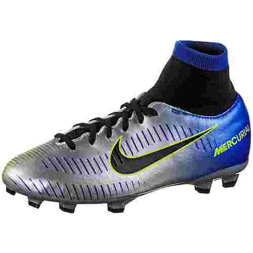 Nike JR MERCURIAL VCTRY 6 DF NJR FG Fußballschuhe Kinder racer blue/black-chrome-volt-volt