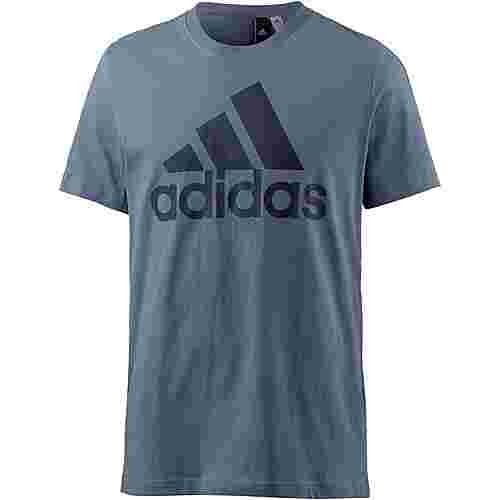 adidas Essential Linear T-Shirt Herren raw-steel