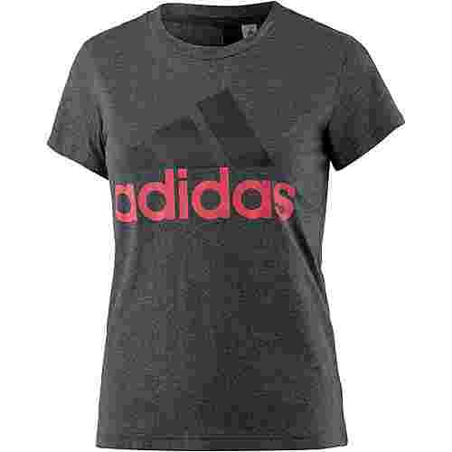 adidas Essentials T-Shirt Damen dark grey