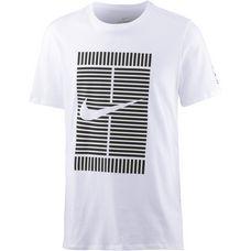 Nike Tennisshirt Herren white-black