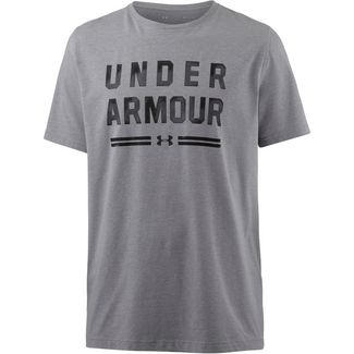 Under Armour Classic Script Funktionsshirt Herren steel-light-heather