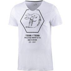 TOM TAILOR V-Shirt Herren white