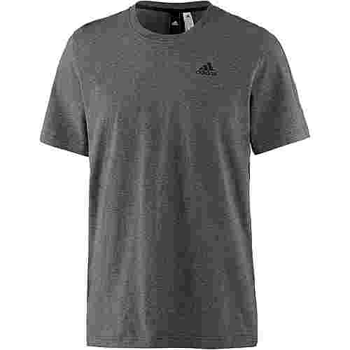 adidas Essential Base T-Shirt Herren dark-grey-heather