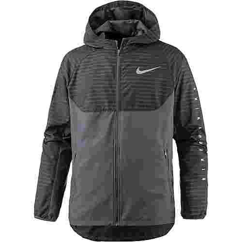 Nike Essential Laufhoodie Herren black-reflective-silv