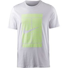 Nike Tennisshirt Herren vast grey-volt glow
