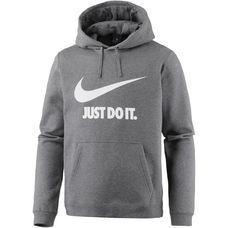 Nike NSW Hoodie Herren charcoal-heathr-white