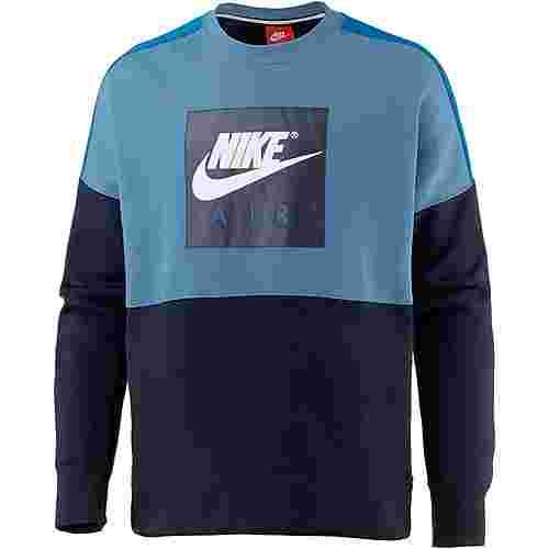 Nike CREW AIR FLC Sweatshirt Herren aegean storm-blue nebula