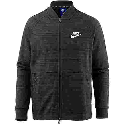 Nike NSW Sweatjacke Herren black-htr-black-white
