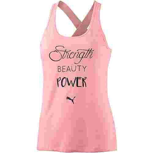 PUMA Essential Dri-Release Tanktop Damen soft fluo peach heather