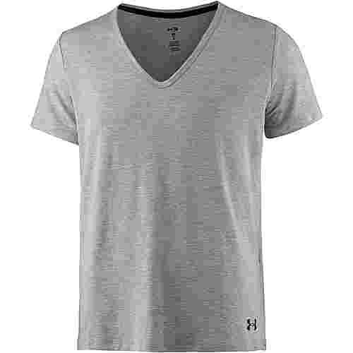 Under Armour TB12 Sleepwear T-Shirt Damen true-gray-heather