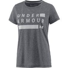 Under Armour Threadborne Train Funktionsshirt Damen black-white-metallic silver