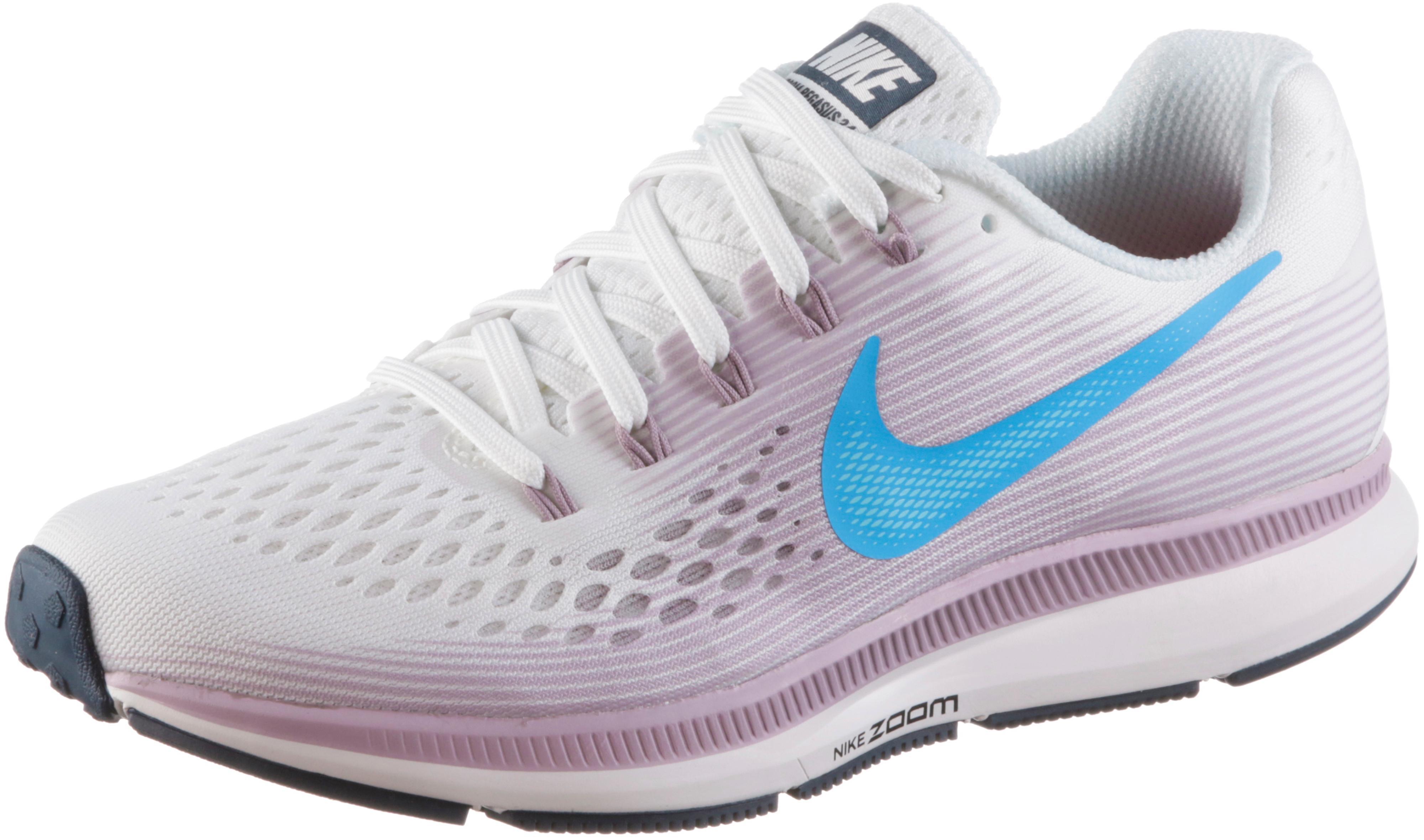 Nike AIR ZOOM PEGASUS 34 Laufschuhe Damen summit white equator blue elem im Online Shop von SportScheck kaufen