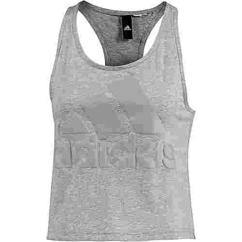 adidas Croptop Damen medium grey heather
