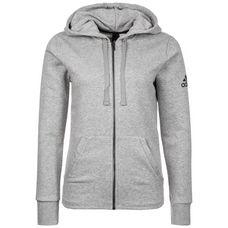 adidas Essentials Sweatjacke Damen medium grey heather