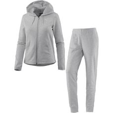 PUMA Graphic Trainingsanzug Damen light gray heather