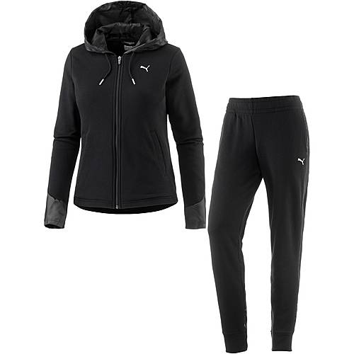 PUMA Graphic Trainingsanzug Damen cotton black